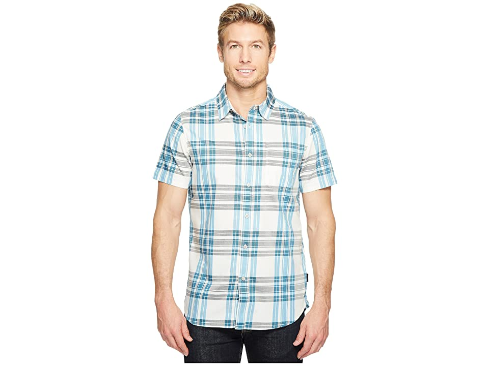 The North Face Short Sleeve Sykes Shirt (Vaporous Grey Plaid) Men