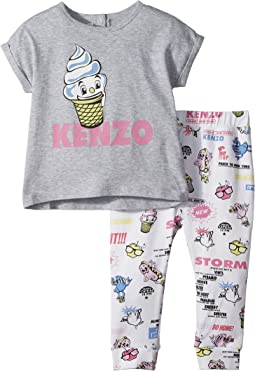 Kenzo Kids Food Print Two-Piece Set (Toddler)