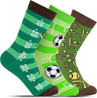 Socks for Children - Fun Novelty Designs for Boys Ages 5-10 - Kids 3 Pack