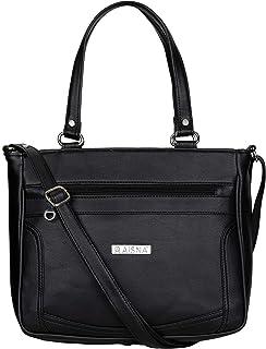 Aisna Women's Kate Handbag(ASN-197)(Black)
