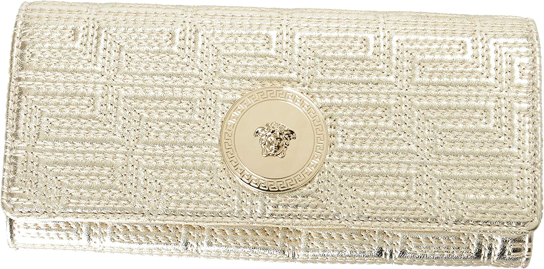 Versace 100% Leather gold Logo Embellished Women's Wallet