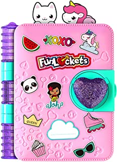 FunLockets Secret Journal, Diary, Activity and Creativity, Sticker and Stationery Set, Secret Writing, Drawing and Doodlin...
