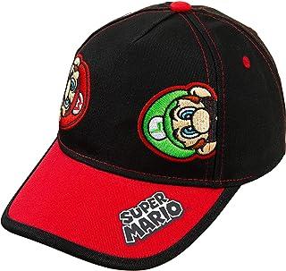 Nintendo Super Mario and Luigi Black Cotton Baseball Cap ? Size Boys' 4-14 [6014]