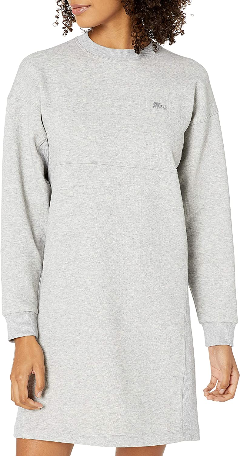 Lacoste Womens 全国どこでも送料無料 Long Sleeve Crew Neck Double Poly Face Co 全商品オープニング価格 Stretch