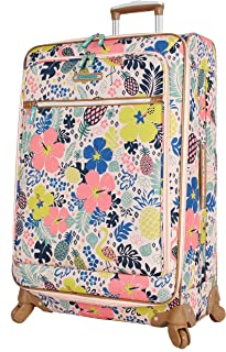 INTERESTPRINT Travel Luggage Protector Suitcase Covers Fit 18-28 Inch a Newspaper with a Vintage Lettering