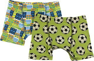 L-10//12 KicKee Pants Boxer Briefs Set in Spring Sky Tiger and Natural Indian Elephant