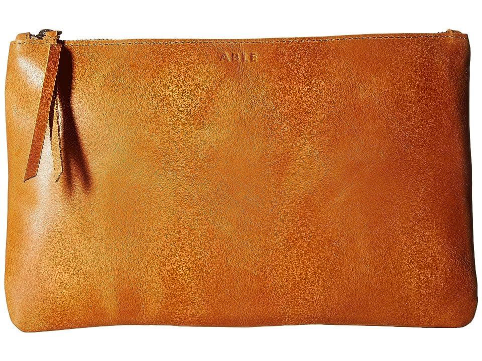 ABLE Martha Zip Pouch (Cognac) Bags