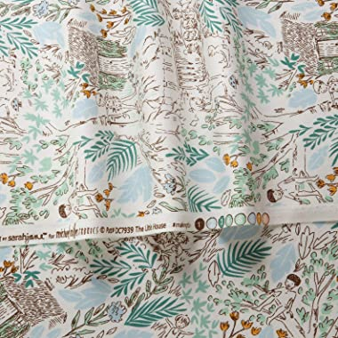Michael Miller Sarah Jane Peter Pan The Little House Fern, Fabric by the Yard