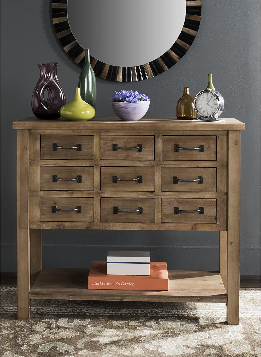 Safavieh Free Shipping Cheap Bargain Gift American Homes Collection Mendie Natural C Drawer 9 2021 model Oak