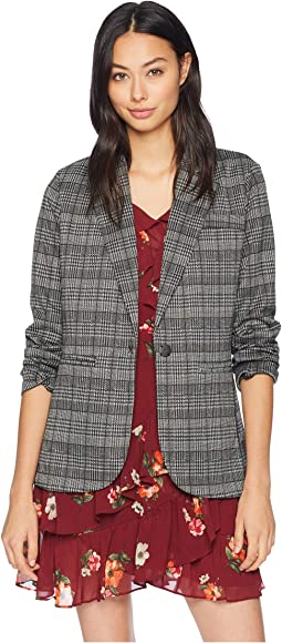 Plaid Ponte Blazer