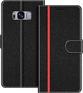 COODIO fodral till Samsung Galaxy S8, magnetiskt flip-fodral telefonfodral kompatibel med Samsung Galaxy S8 mobilfodral, S...