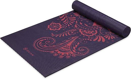 Gaiam Yoga Mat - Premium 6mm Print Extra Thick Non Slip Exercise...