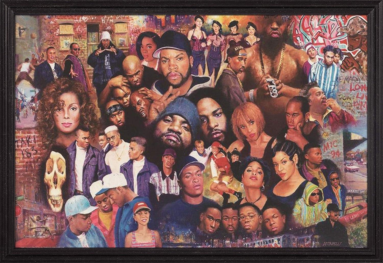 Frame USA Overseas parallel import regular item Legends Max 67% OFF of Rap and Black Poster Grande Hop Hip