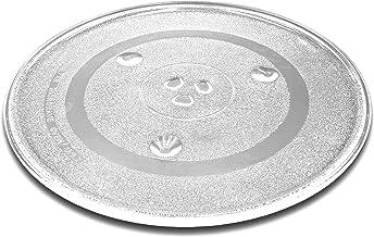 vhbw Plato de microondas de cristal de 31,5 cm con soporte en Y para microondas de Bosch, Siemens, AEG, Severin, Panasonic, Samsung, Clatronic.