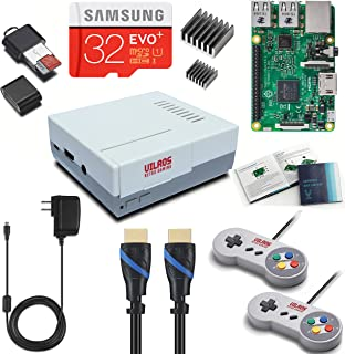 Vilros Raspberry Pi 3 Retro Arcade Gaming Kit with 2 Classic USB Gamepads