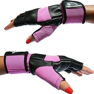 Nordic Lifting - Mitones para entrenamiento de gimnasio, crossfit, levantamiento de peso, fitness y cross training, color rosa, con soporte de muñeca de 30 cm aproximadamente, para hombre y mujer