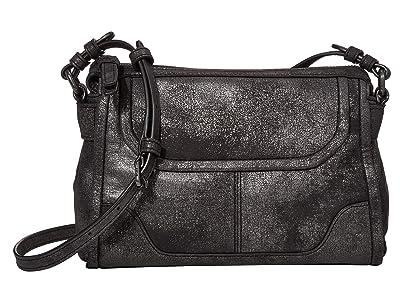 Frye Mel Metallic Crossbody (Gunmetal) Handbags