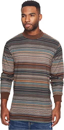 Publish - Kole Mock Neck Vintage Stripe Long Sleeve Shirt