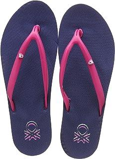 United Colors of Benetton Women's Flip Flops Navy Slippers- 4 UK/India (37 EU) (19P8CFFPL313I)