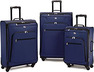 American Tourister 64590 AT Pop Plus Suitcase, 3 Piece Set (One Size, Navy)