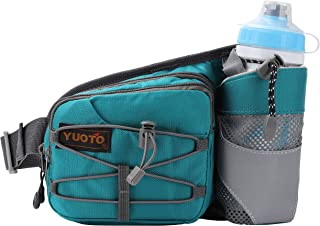 YUOTO Waist Pack with Water Bottle Holder for Running Walking Hiking Runners Hydration Belt fit Maximum 27oz and iPhone 8 ...