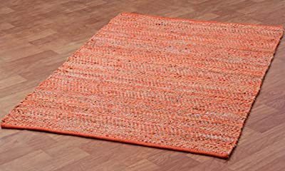 Earth First Jeans Rug, 9-Feet by 12-Feet, Orange