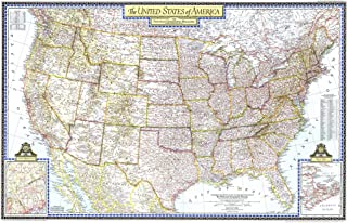 National Geographic: United States of America 1946 - Historic Wall Map Series - 41.25 x 27 inches - Paper Rolled