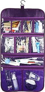 Premium Hanging Nylon Cosmetic Bag - Toiletry & Accessory Storage Organizer Bag (Purple)
