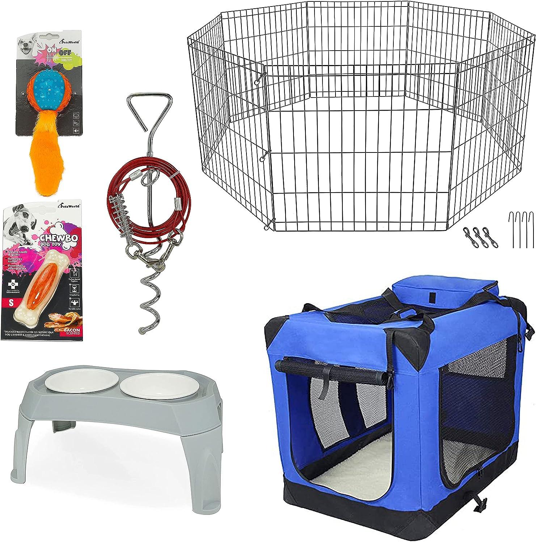 PETSWORLD Pet Max 73% OFF Starter Max 51% OFF Kit Playpen Folding Crate + Soft