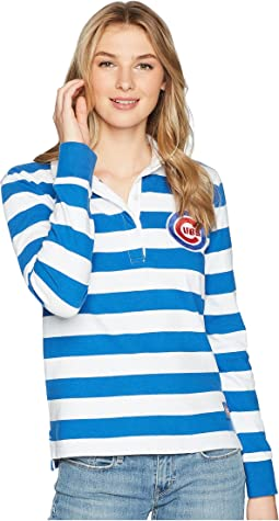 Chicago Cubs Striped Rugby Shirt