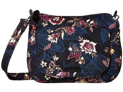 Vera Bradley Carson Performance Twill Mini Shoulder Bag (Garden Dream) Cross Body Handbags