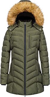کت زنانه زمستانی زنانه CREATMO ایالات متحده ضد آب گرم کاپشن بلند پف دار پارکا