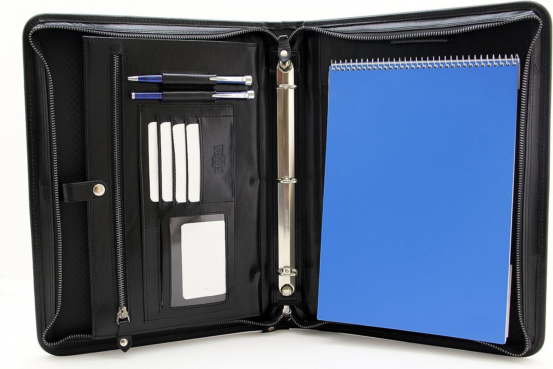 2021 model Noda Professional 2021new shipping free shipping Leather Portfolio 3 Notebook Ring Hold Binder