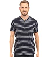 Kenneth Cole Sportswear - Stripe Henley w/ Pocket