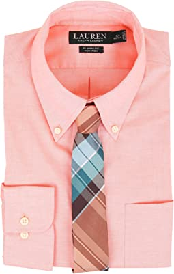 LAUREN Ralph Lauren - Pinpoint Classic Button Down Pocket Shirt