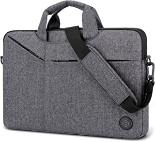Laptop Bag,BRINCH Slim Water Resistant Laptop Messenger Bag Portable Laptop Sleeve Case Shoulder Bag Briefcase Handbag with Strap for 13-14 Inch Laptop/Notebook Computer Men/Women,Dark Grey