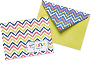 American Greetings Thank You Cards with Envelopes, Multicolored Chevron (50-Count)