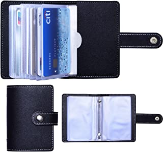 Slim Minimalist Mini Case Holder Organizer Wallet, Soft PU Leather Credit Card Holder with 26 Card Slots, for Men and Wome...