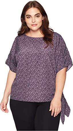 Plus Size Space Dye Texture Top