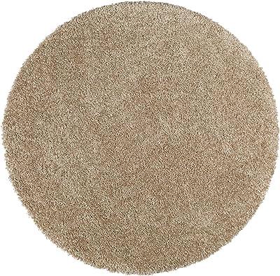 UNIVERSAL Tapis Rond à Poils Longs Shaggy Aqua Liso R 100% Polypropylène Beige 80 x 80 cm