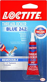 Henkel 209728 Loctite Heavy Duty Threadlocker, 0.2 oz, Blue 242, Single Thread Locking Adhesive, 0.2 Fl. Oz (Pack of 1), 2