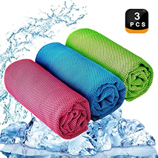 Vancle Cooling Towels 4 Pack Cooling Towel for Sport Men Women Instant Cooling Relief in Hot Environment Baby Ice Towels Stay Cool for Athletes Dogs