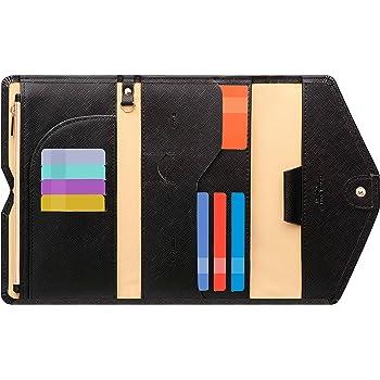 Zoppen Multi-purpose Rfid Blocking Travel Passport Wallet (Ver.4) Tri-fold Document Organizer Holder