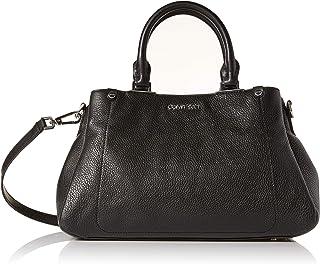 Calvin Klein Jackson Pebble Leather Organizational Satchel