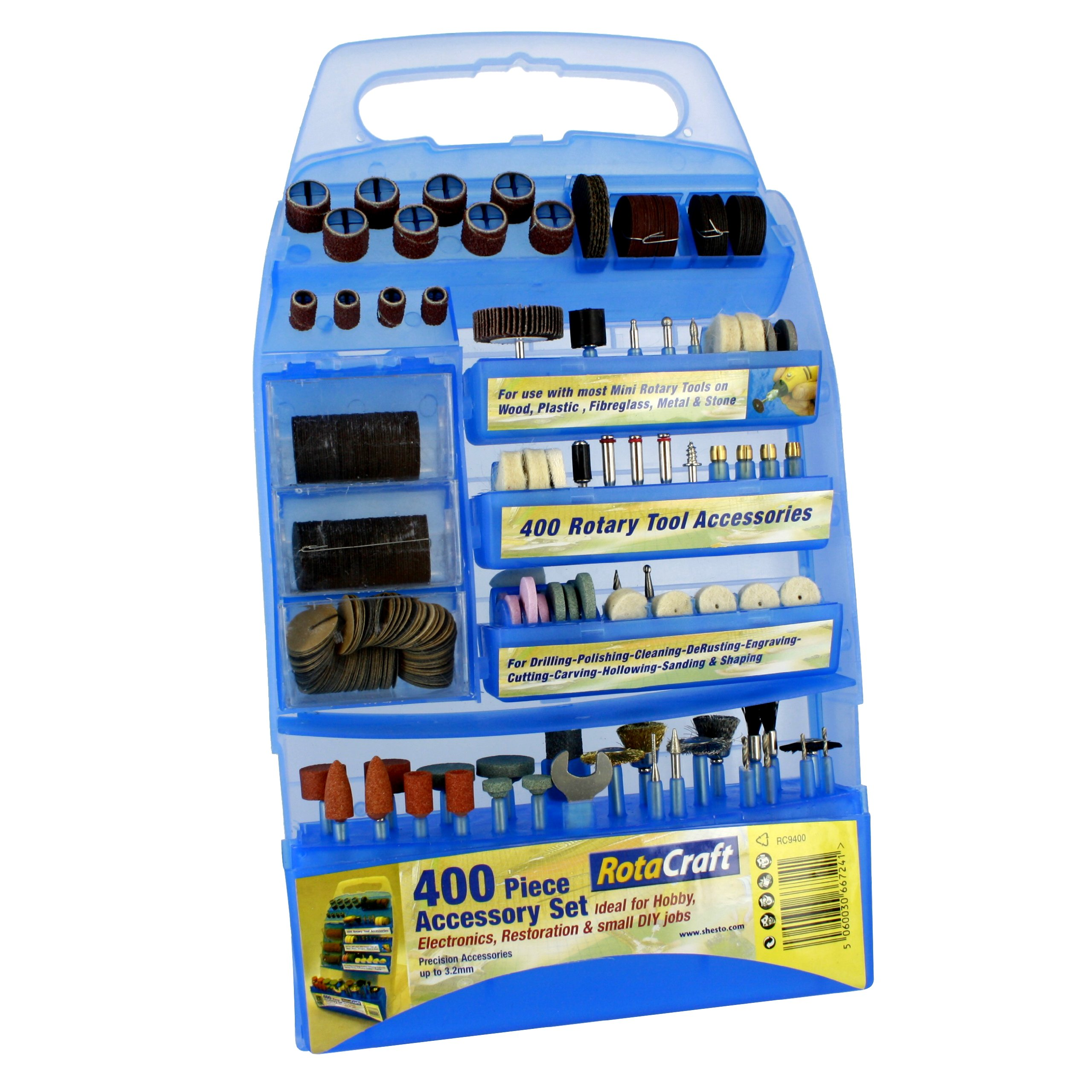 Yellow Rotacraft Slim-line Engraving and Rotary Tool Kit