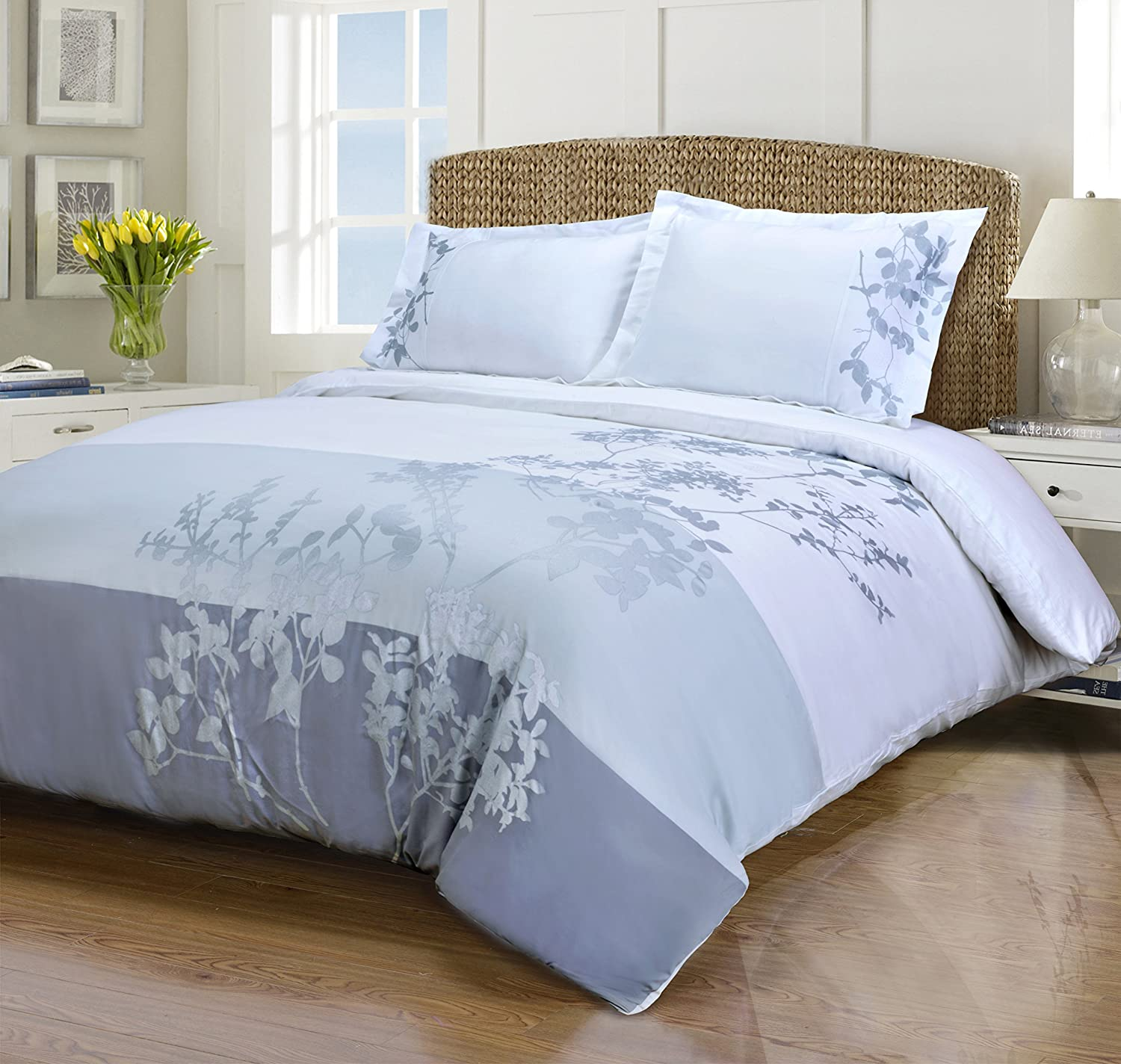 SUPERIOR Finally resale start 100% Cotton Duvet Cover Set Hotel Soft C - Embroidered Ranking TOP11