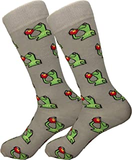 socks with frogs on them