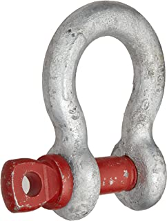 Crosby 1018491 Carbon Steel G-209 Screw Pin Anchor Shackle, Galvanized, 4-3/4 Ton Working Load Limit, 3/4