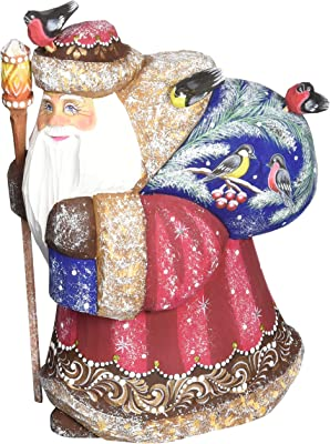 G. Debrekht Candy Coated Christmas Hand-Painted Wood Carving