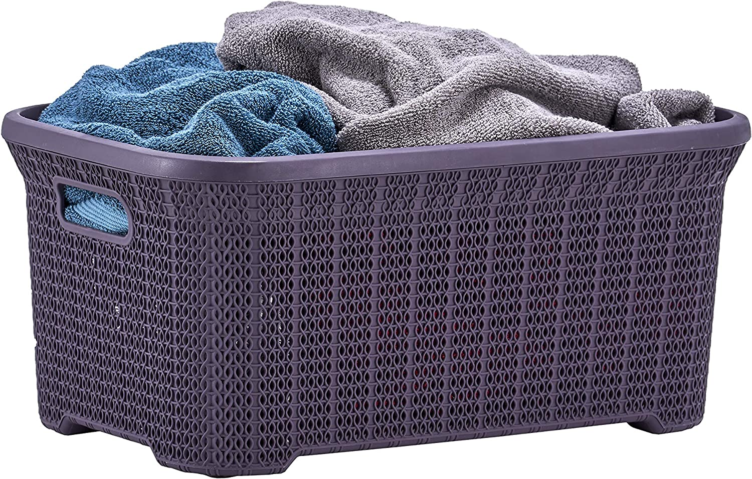 Superio Laundry Max 83% OFF Basket Knit Style Superior Cut Handles Out with